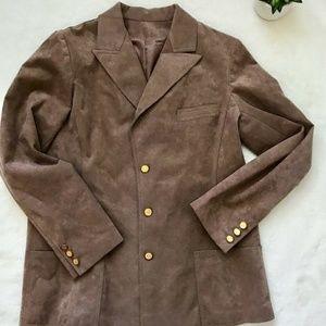 Abe Schrader Women's Suede Blazer Jacket Large